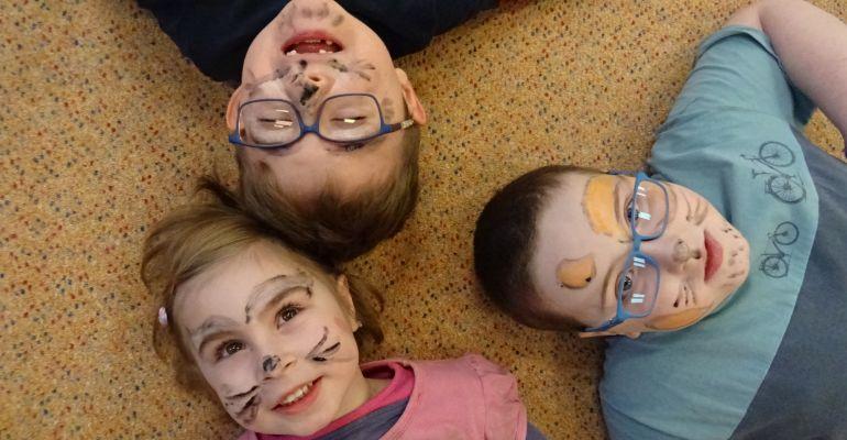 MŠ - třída Sovičky, Malujeme na obličej